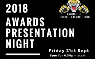 Buy Tickets – 2018 Presentation Night