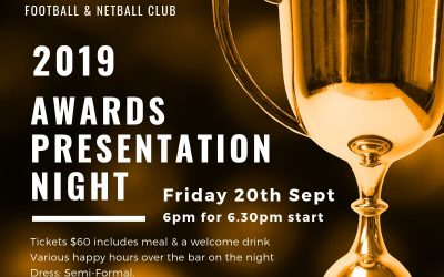 2019 Awards Presentation Night