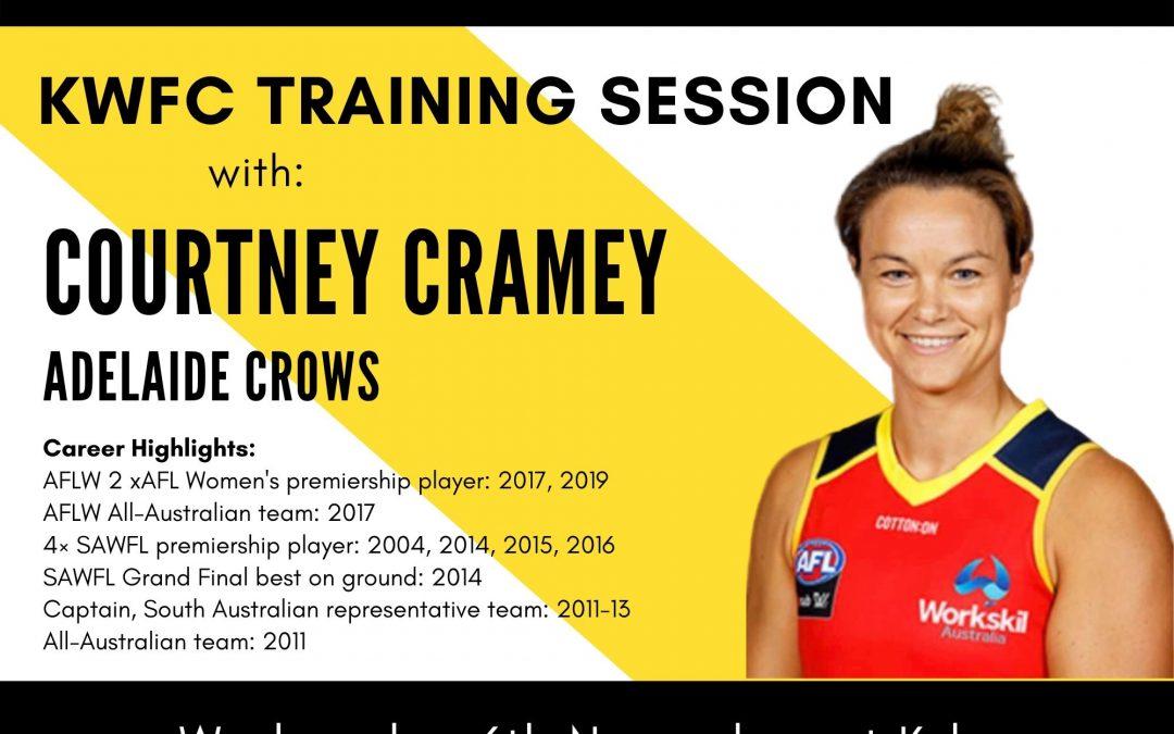 KWFC Trains with Courtney Cramey