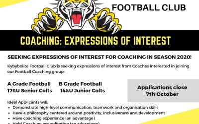 2020 Football Coaching Applications & Enquiries