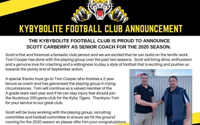 Announcement – Senior Football Coach 2020